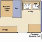 Coleman Pop Up Campers Santa Fe Floorplan