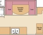 Coleman Pop Up Camper Avalon Floorplan